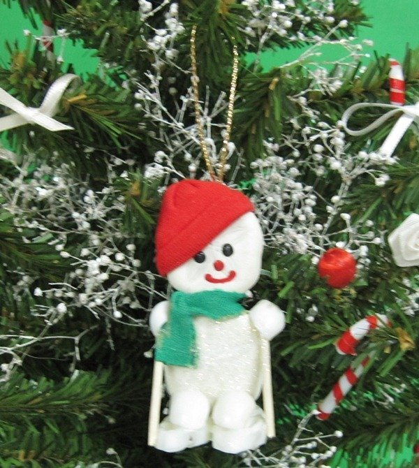 Bulk Christmas Ornaments.2 1 2 Inches Sea Biscuit Skiing Snowman Beach Christmas Ornaments For Sale In Bulk Pack Of 10 2 10 Each
